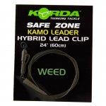 Гибридная оснастка Korda Hybrid Lead Clip Leader 40lb Clay 100см