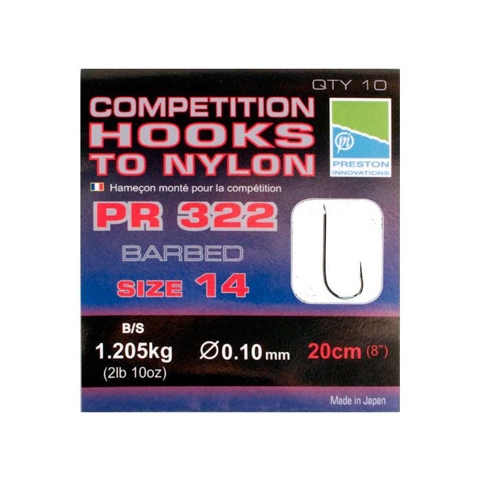 Готовые поводки Preston Competition 322 Hooks №16