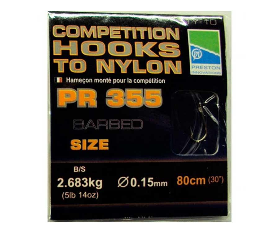 Готовые поводки Preston Competition 355, 0.15 мм 80 см №10