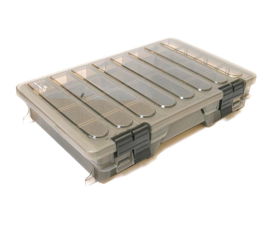 Коробка Flagman пластиковая 2-х полочная средняя D001