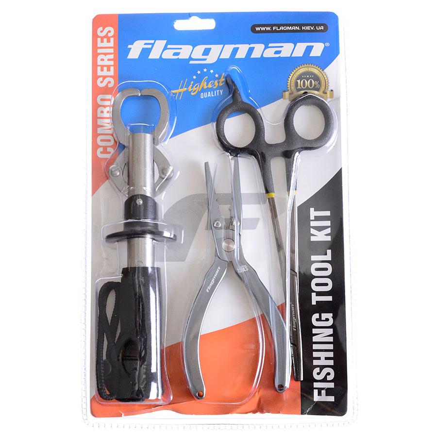 Набор рыболовный Flagman (плоскогубцы+захват+корнцанг)