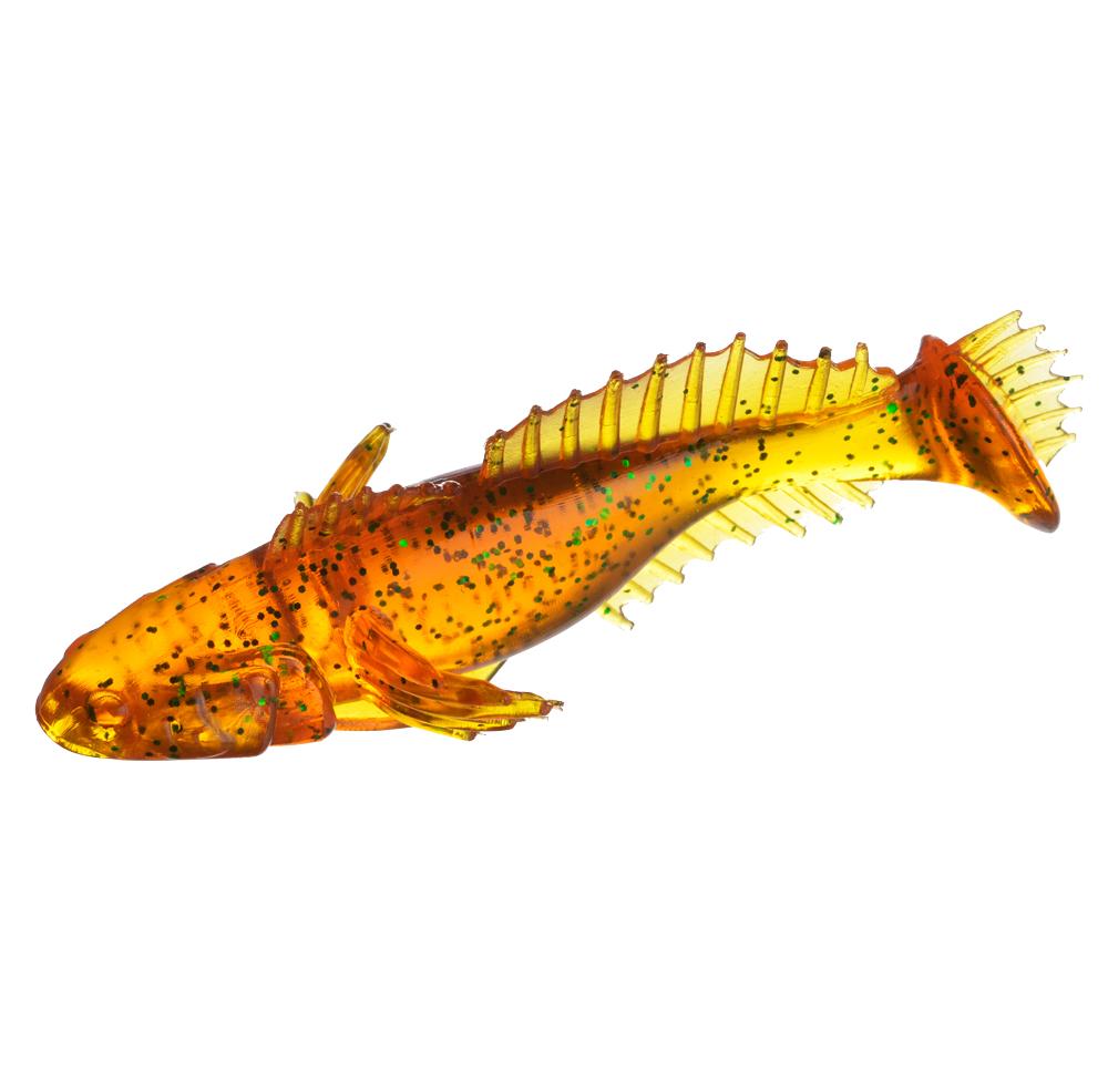"Виброхвост Flagman Bullfish 2.5"" Honey green flake"