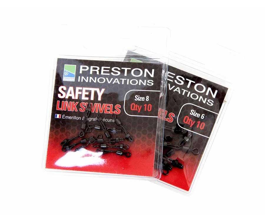Вертлюжок с застёжкой Preston Safety Link Swivels № 8