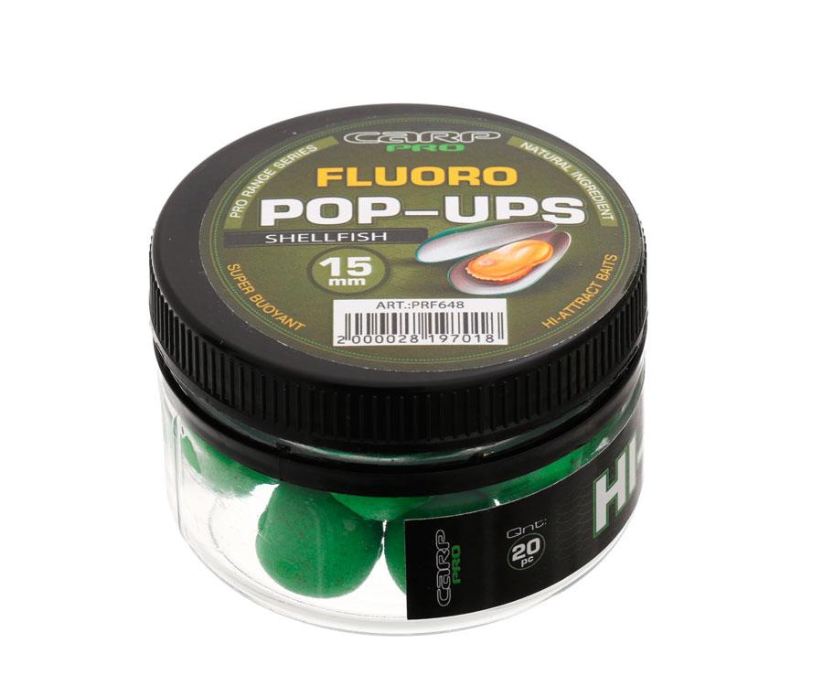 Бойлы Carp Pro Fluoro Pop-Ups Shellfish 15 мм