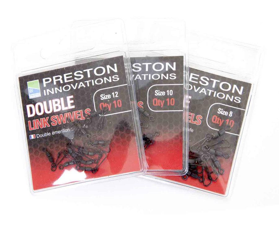 Вертлюг двойной с застежкой Preston Double Link Swivels № 8