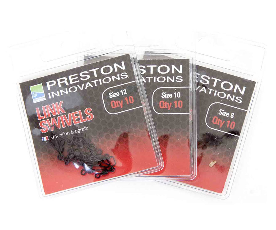 Вертлюжок с застежкой Preston Link Swivels № 8