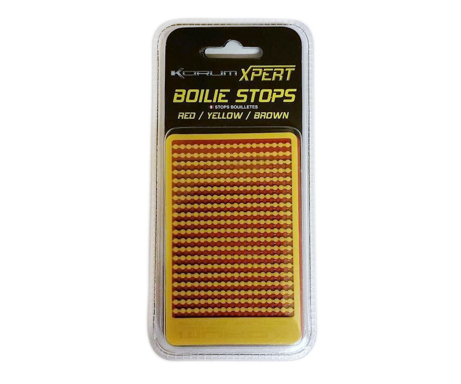 Стопор бойлов Korum Xpert Boilie Stops Red/Yellow/Brown