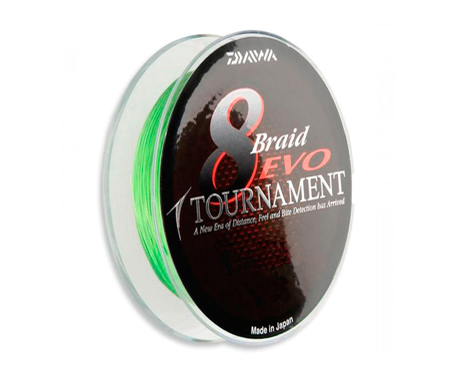 Шнур Daiwa Tournament 8xBraid EVO Chartreuse 135м 0.12мм