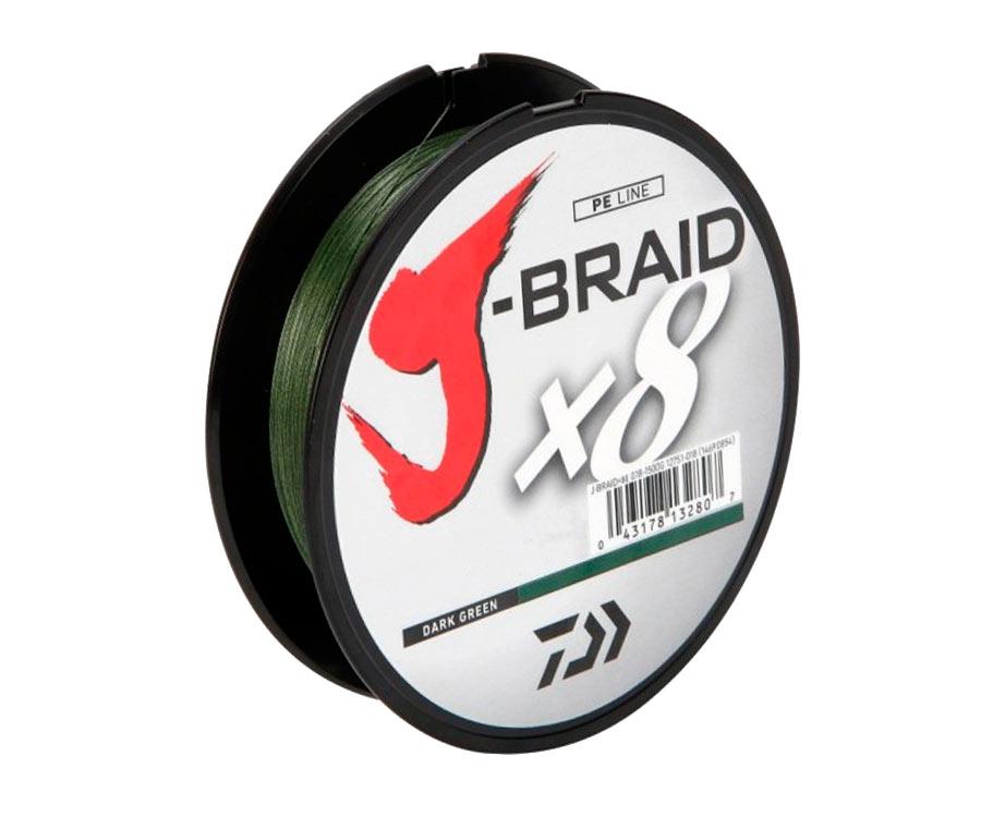 Шнур Daiwa J-Braid x8 Dark Green 150м 0.10мм