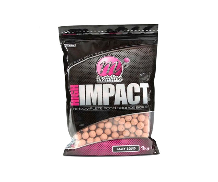 Бойлы Mainline High Impact Boilies Salty Squid 20 мм 1 кг