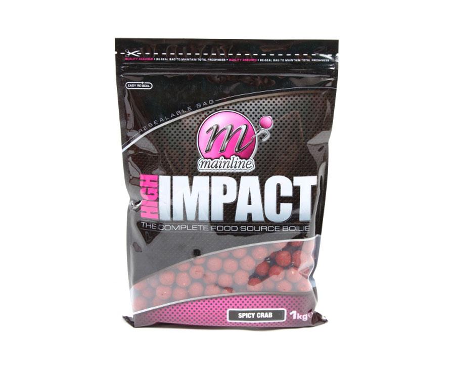 Бойлы Mainline High Impact Boilies Spicy Crab 20 мм 1 кг