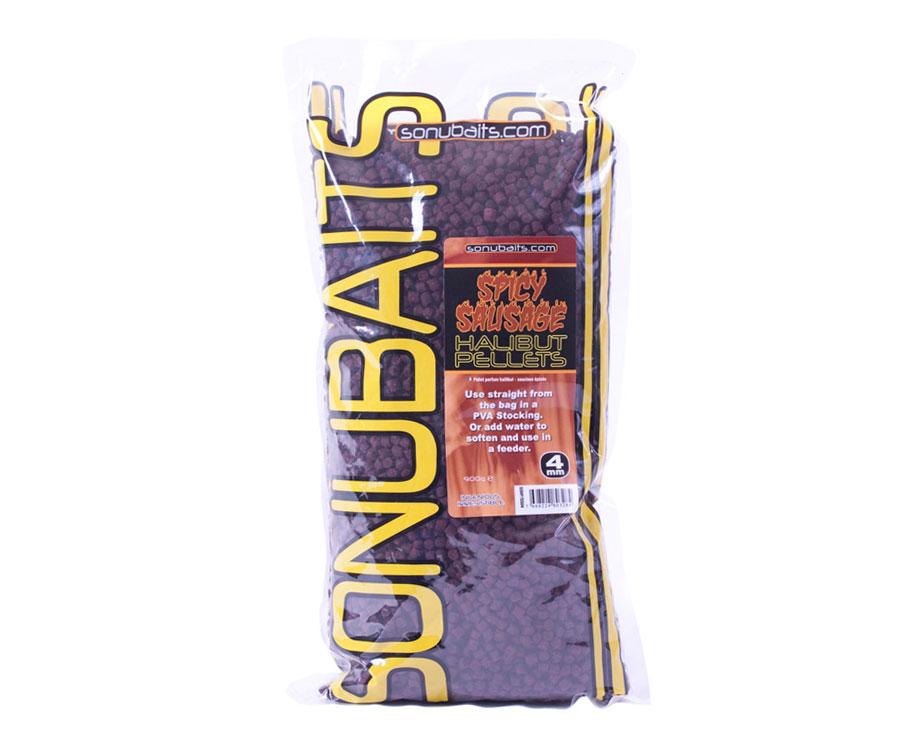 Пеллетс Sonubaits Spicy Sausage Halibut Pellets 4 мм