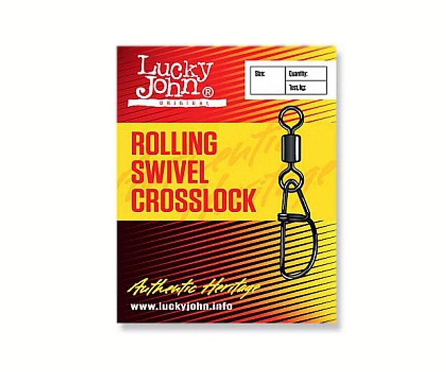Застежка-вертлюг LJ Roling Swivel Crosslock № 8 (10 шт)
