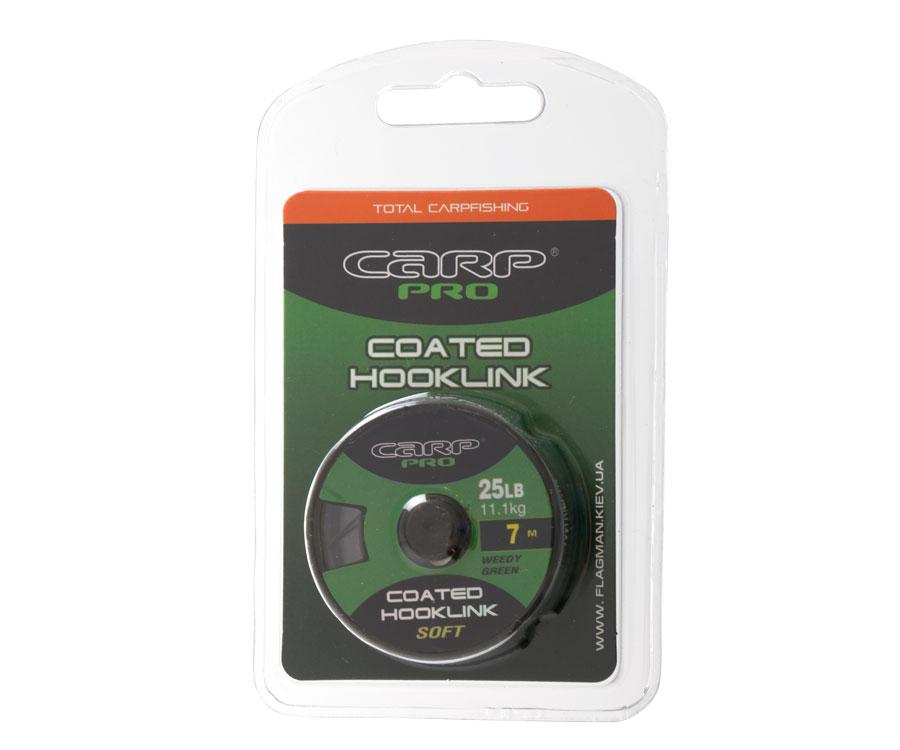 Поводковый материал в оболочке Carp Pro Weedy Greencoated 25 lb 7 м