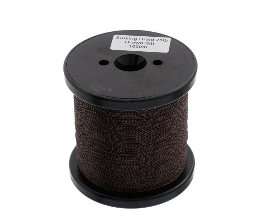 Поводковый материал без оболочки Carp Pro Sinking Braid Brown Silt 25lb1000м