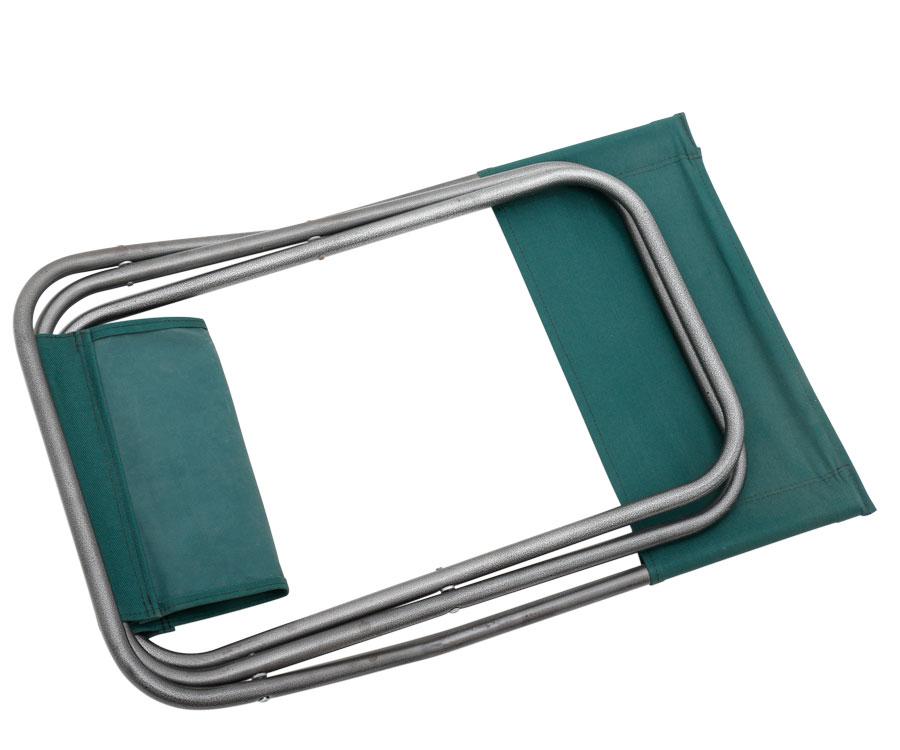 Стул Flagman складной со спинкой зеленый молотковая окраска