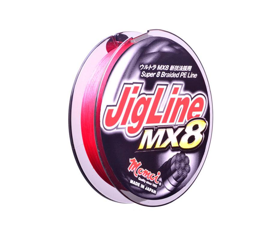 Шнур Momoi Jigline MX8 Red 150м #1.2 0.18мм