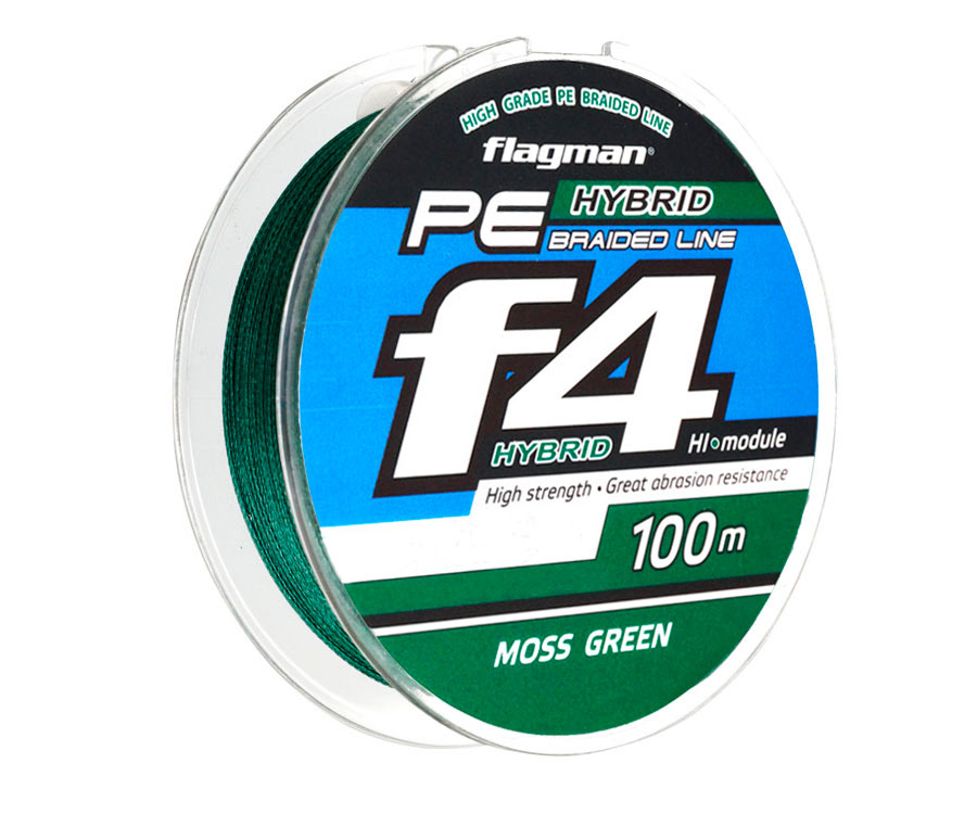 Шнур Flagman PE Hybrid F4 Moss Green 0.14мм 17lb