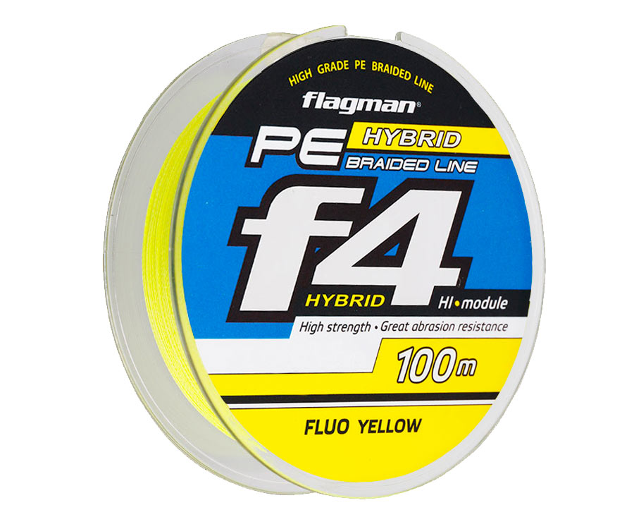 Шнур Flagman PE Hybrid F4 Yellow 0,12мм 14lb