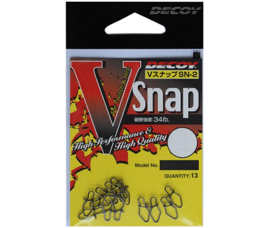 Застежка Decoy V Snap 1, 34 lb (13 шт.)