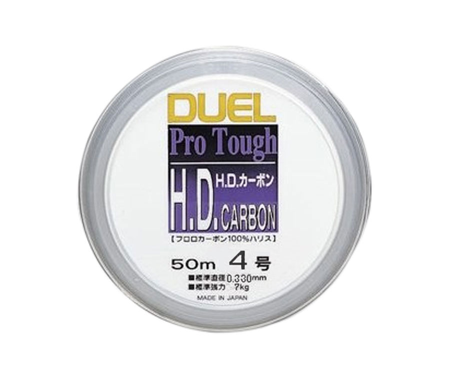 Леска Yo-Zuri H.D. Carbon Fluorocarbon 100% 50м №4 0.33мм