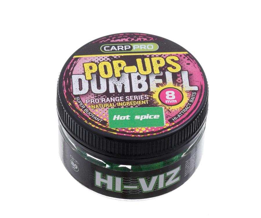 Бойлы Carp Pro Dumbell Pop-Ups Hot Spice 8 мм
