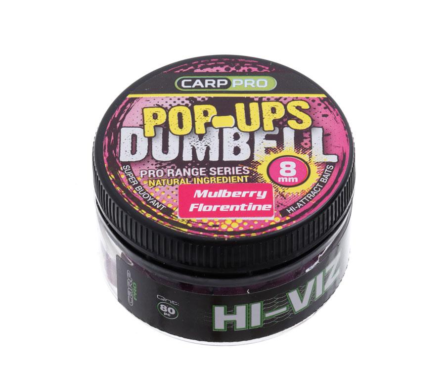 Бойлы Carp Pro Dumbell Pop-ups Mulberry Florentine 8 мм