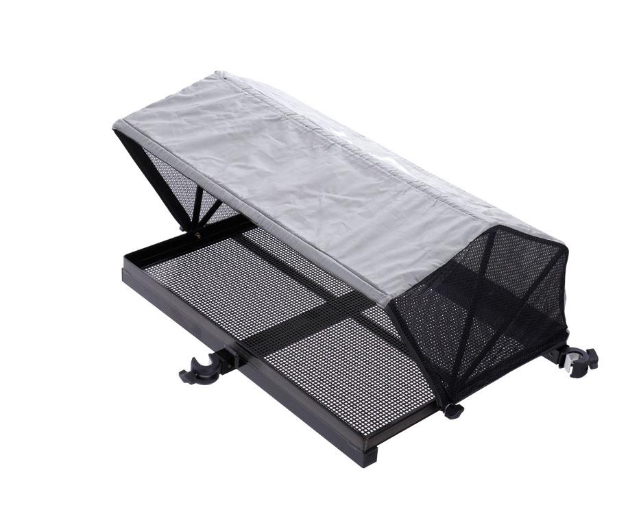 Столик с тентом и креплением к платформе Flagman Side Tray with tent 670x510 мм, Ø25 мм