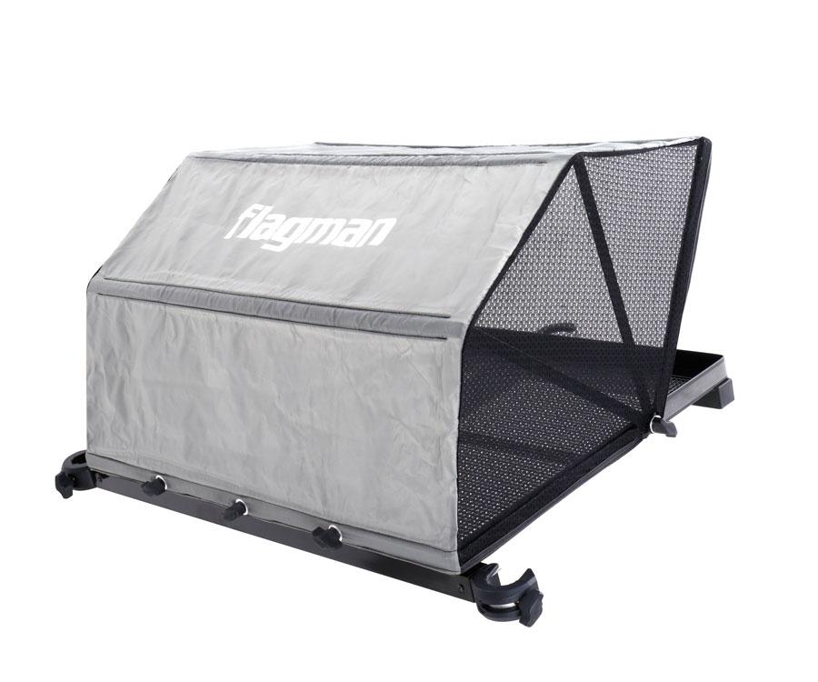 Столик с тентом и креплением к платформе Flagman Side Tray with tent  670x510 мм, Ø36 мм