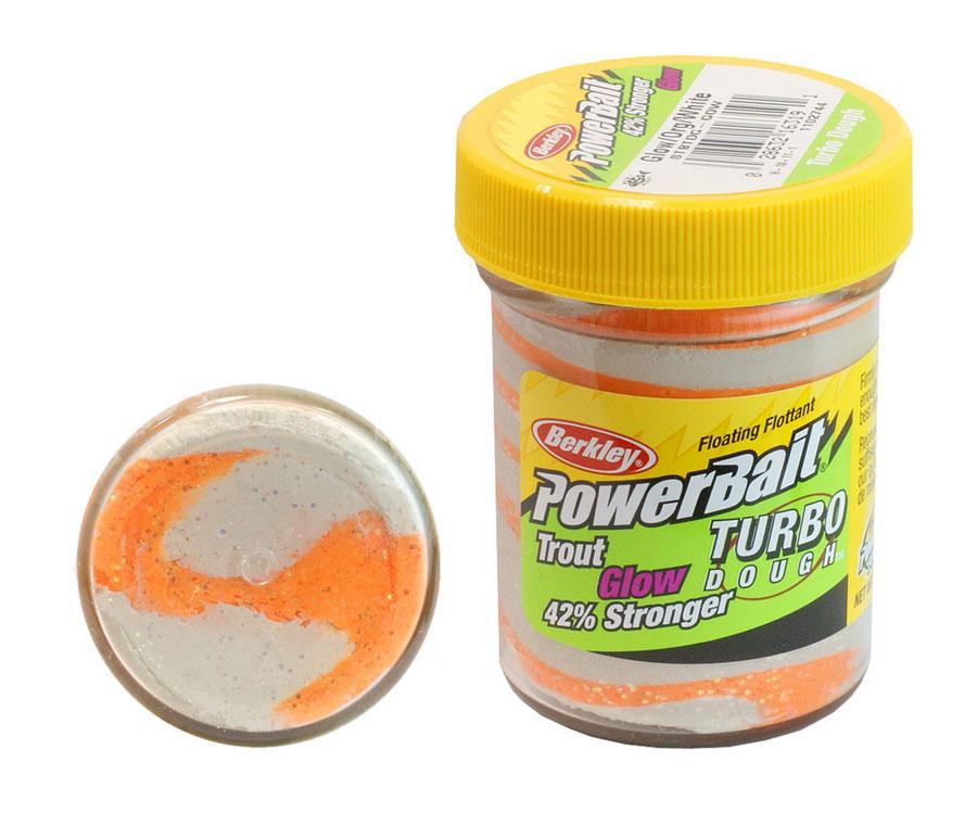 Паста форель Berkley Turbo Dough Glow Orange/White 50г