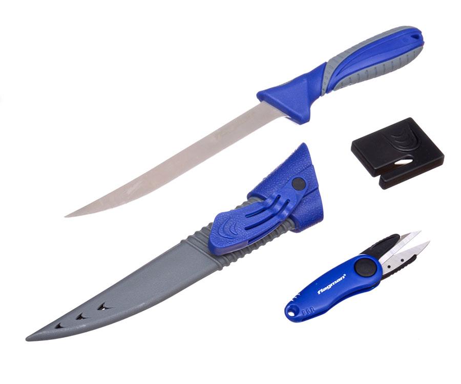 Набор рыболовный (нож, точилка, ножницы) Flagman 18см
