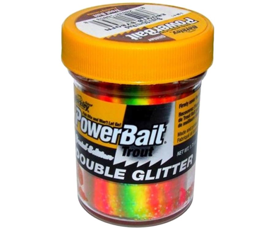 Паста форель Berkley Double Glitter Twist Sunshine Yellow/Spring Green/Fluo Red 50г