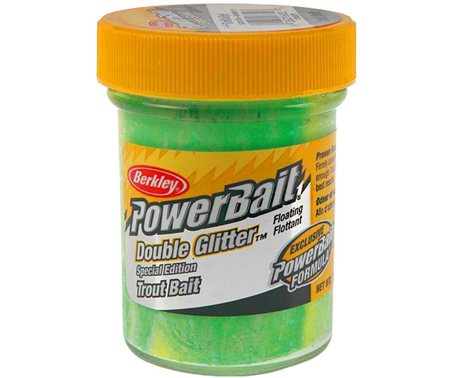 Паста форель Berkley Double Glitter Twist Green/White Lemon/Yellow 50г