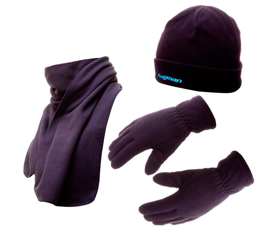 Комплект FLagman шапка + шарф + перчатки (флис)