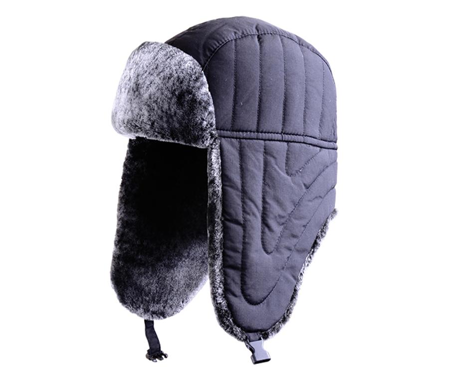 Зимняя шапка нейлон Flagman черная L