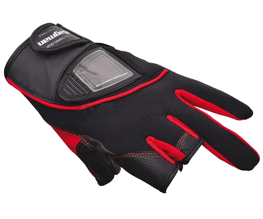 Перчатки спиннингиста Flagman, обрез 3 пальца M