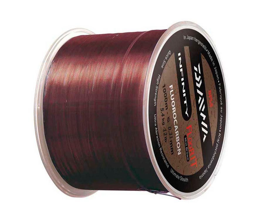 Леска Daiwa Infinity Floor It Fluorocarbon Line Brown 0.31мм