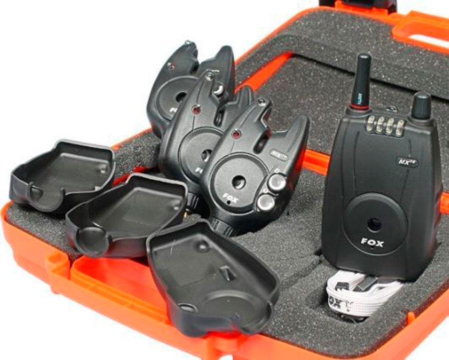 Набор элетронных сигнализаторов поклевки FOX Micron MXR+ Multi Colour 3+1