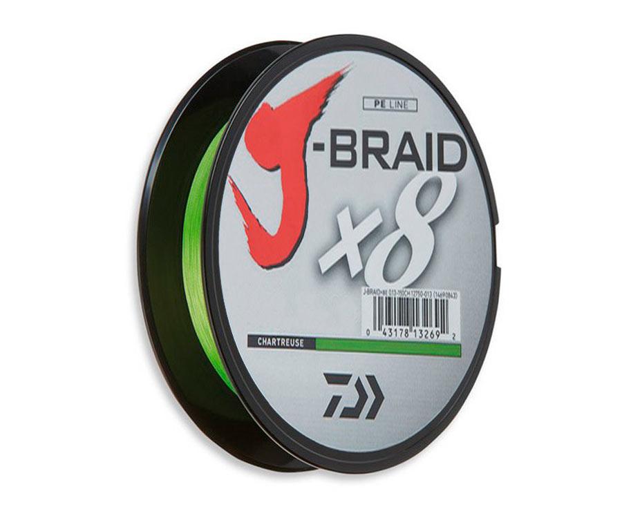Шнур Daiwa J-Braid x8 Chartreuse 150м 0.24мм