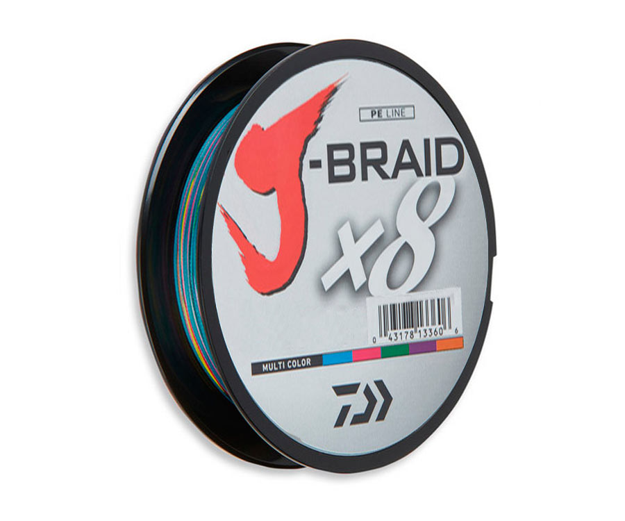 Шнур Daiwa J-Braid x8 Multicolor 300м 0.20мм