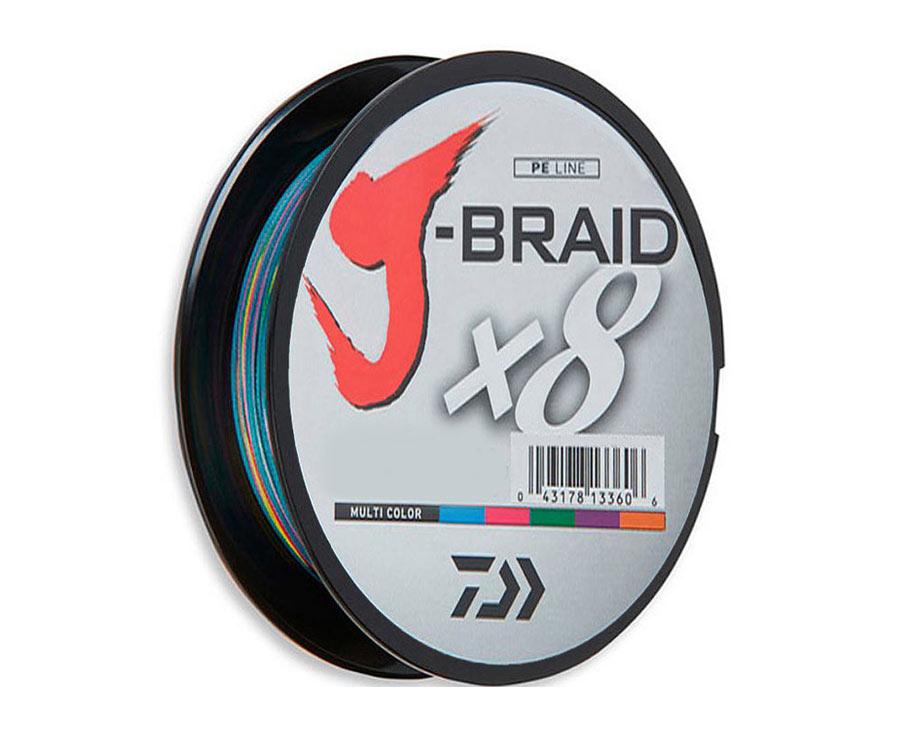 Шнур Daiwa J-Braid x8 Multicolor 150м 0.20мм