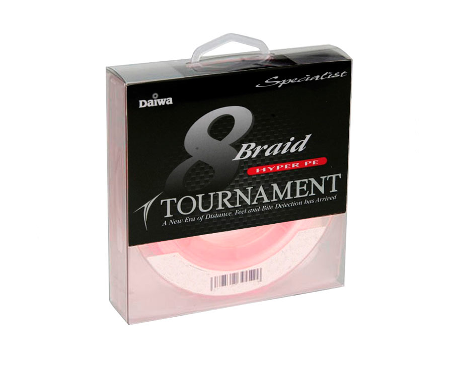 Шнур Daiwa Tournament 8xBraid Pink 0.18мм