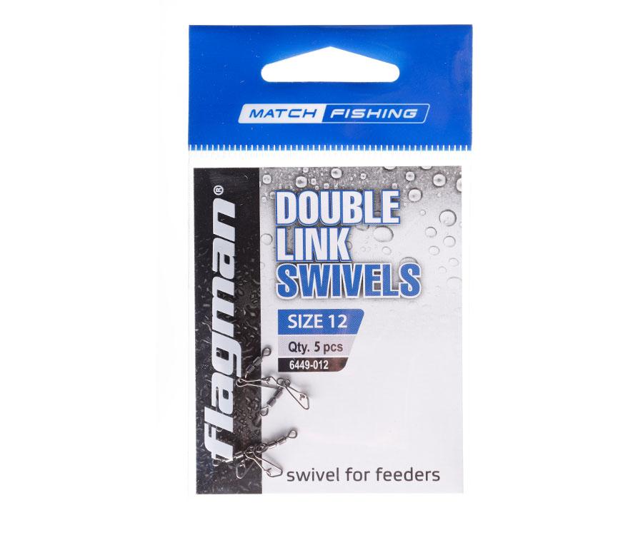 Фидерный двойной вертлюжок Flagman Double Link Swivels № 12, 5 шт