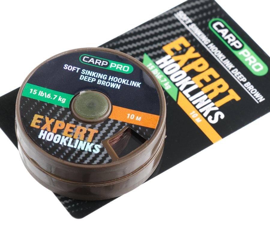 Мягкий поводковый материал без оплетки Carp Pro 15 lb 10 м коричневый
