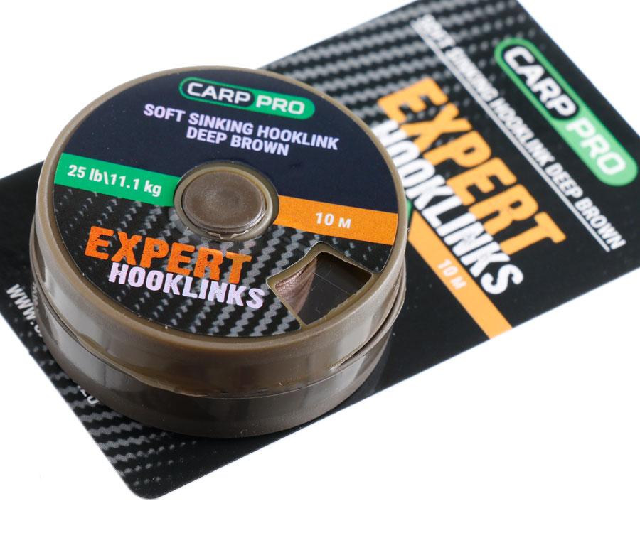 Мягкий поводковый материал без оплетки Carp Pro 25 lb 10 м коричневый
