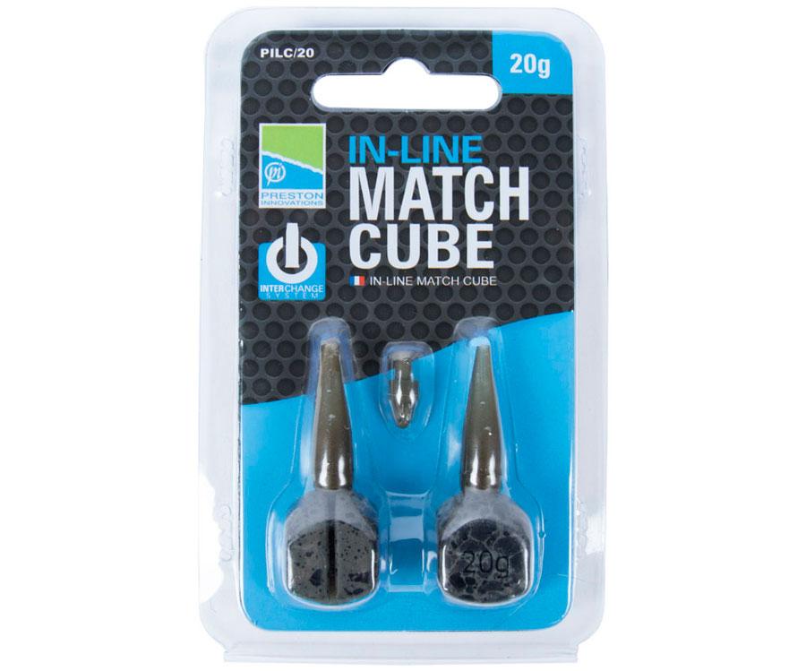 Грузило Preston In-Line Match Cube 20 г