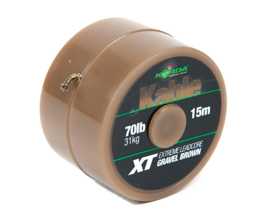 Ледкор Korda Kable XT Extreme Leadcore 70 lb 15 м Brown