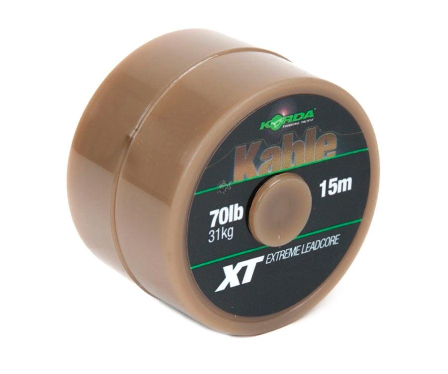Ледкор Korda Kable XT Extreme Leadcore 70 lb 15 м Green