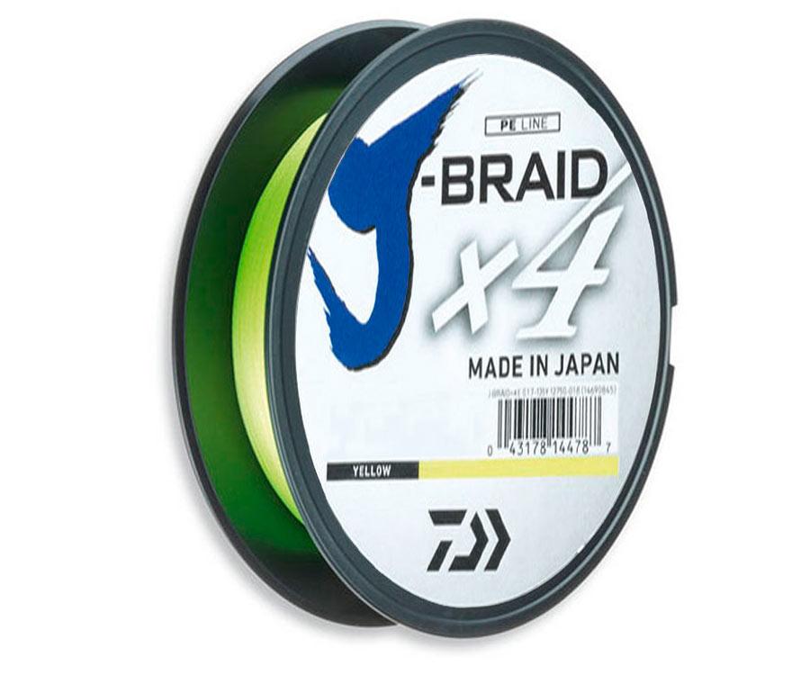 Шнур Daiwa J-Braid x4 0.10мм 3.8кг Yellow 135м