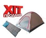 Комплект Flagman Палатка Monodome и спальный мешок Comfort